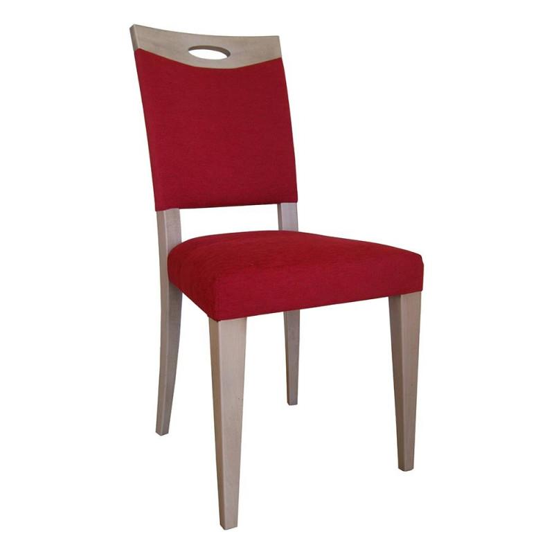 chaise contemporaine en hetre massif avec assise et dossier garnis. Black Bedroom Furniture Sets. Home Design Ideas