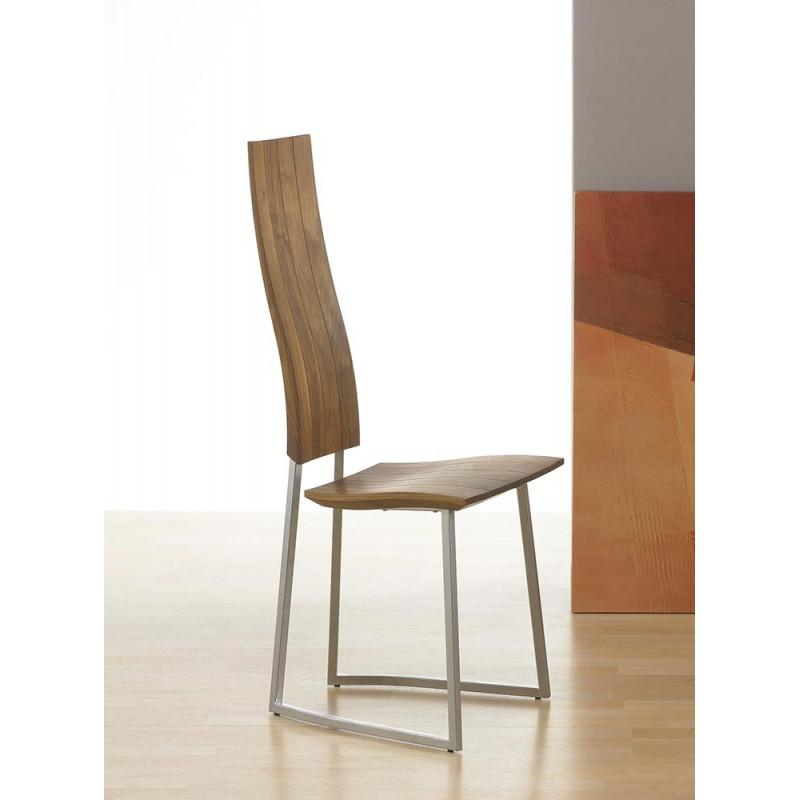 chaise contemporaine bois m tal. Black Bedroom Furniture Sets. Home Design Ideas
