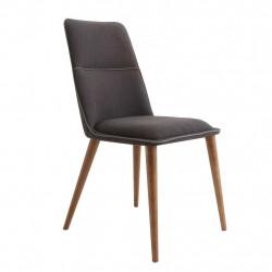 Chaise contemporaine de séjour DIVA tissu ANTHRACITE