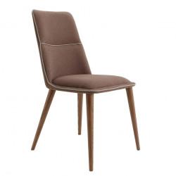 Chaise contemporaine de séjour DIVA tissu CAFE