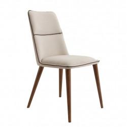 Chaise contemporaine de séjour DIVA tissu SABLE