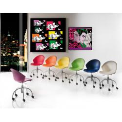 Chaise de bureau à roulettes LED TWIST