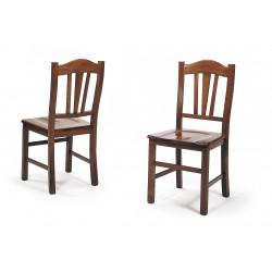 Chaise rustique en bois CASTELLANA