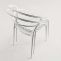Chaise empilable en polypropylène PILAR